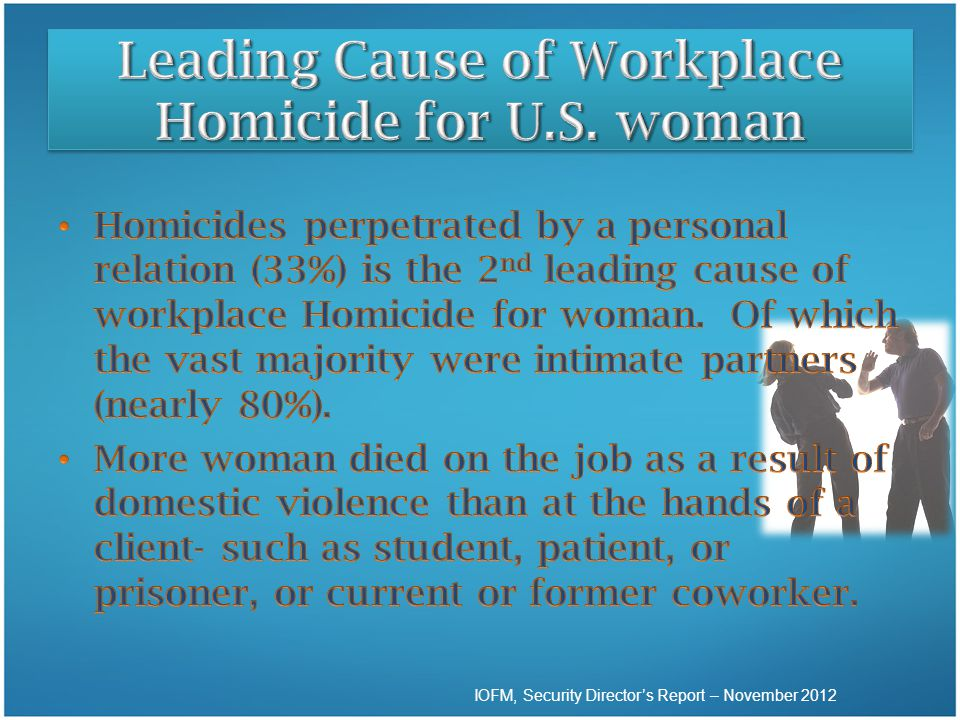 Leading Cause of Workplace Homicide for U.S. woman