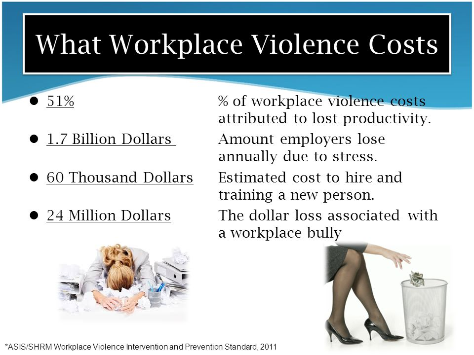 What Workplace Violence Costs