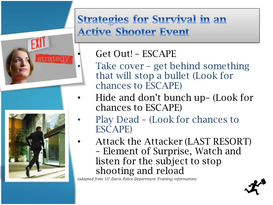 Strategies for Survival in an Active Shooter Event