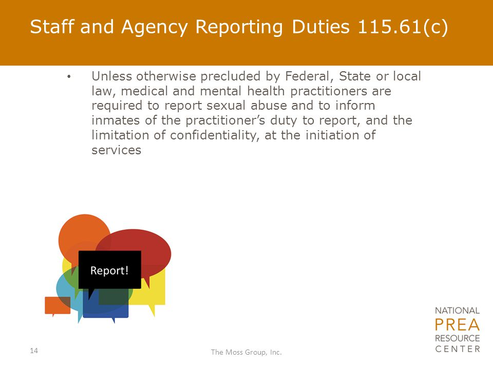 Staff and Agency Reporting Duties 115.61(c)
