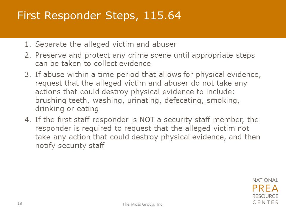First Responder Steps, 115.64 Separate the alleged victim and abuser
