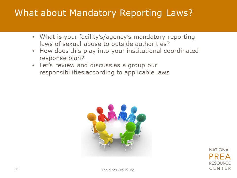 What about Mandatory Reporting Laws