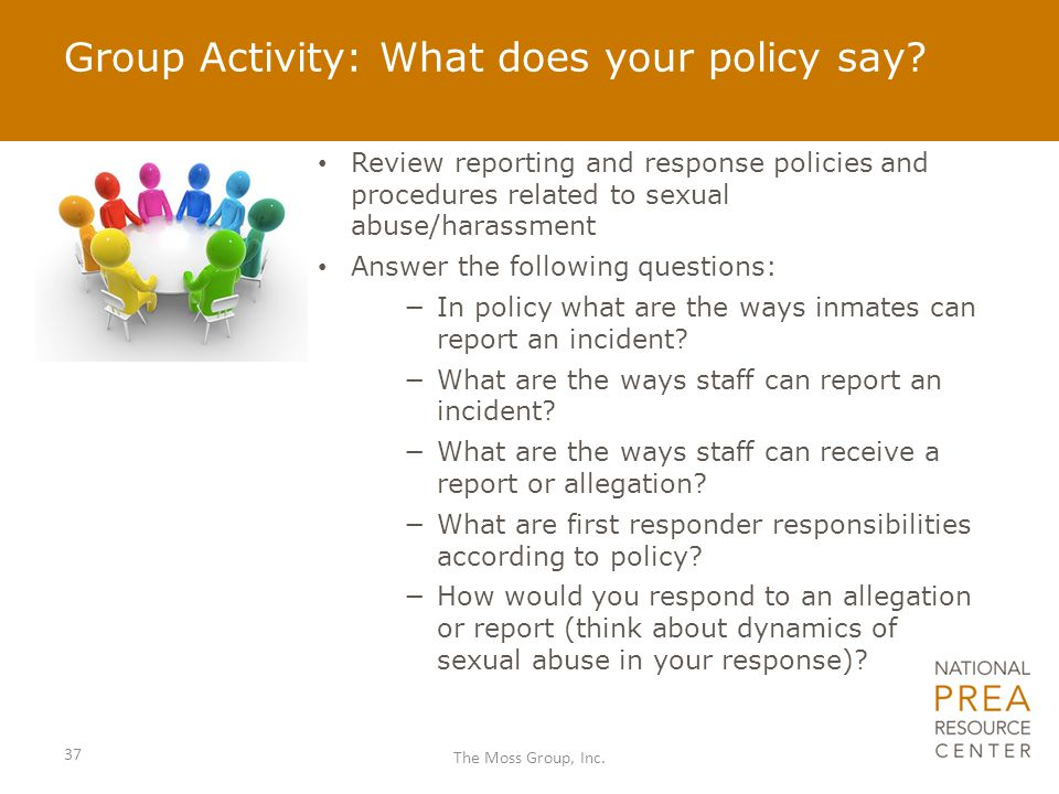 Group Activity: What does your policy say