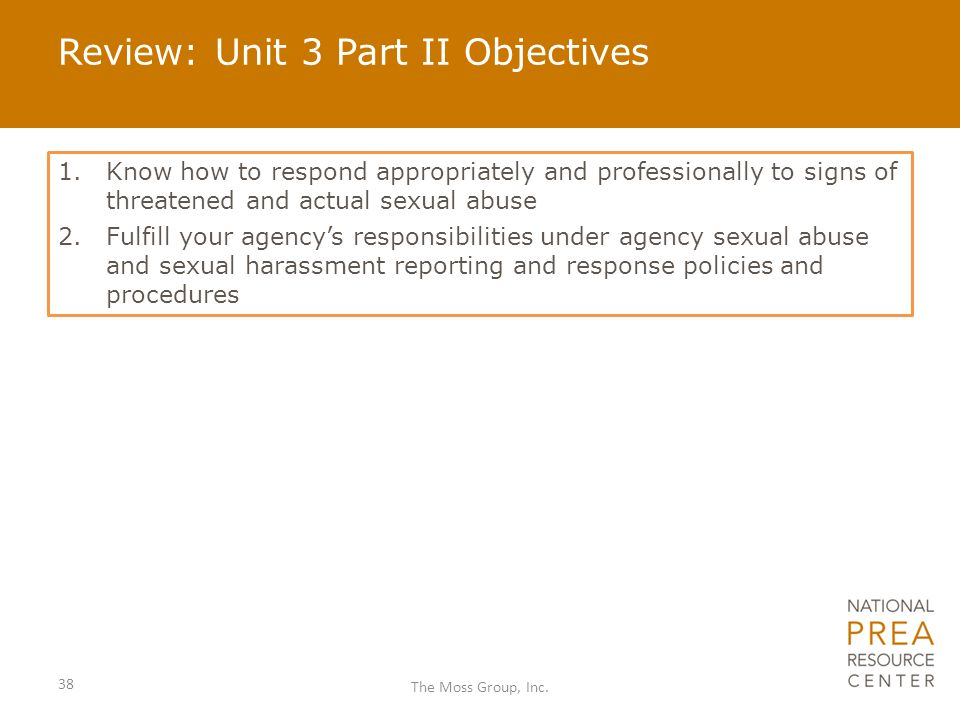 Review: Unit 3 Part II Objectives