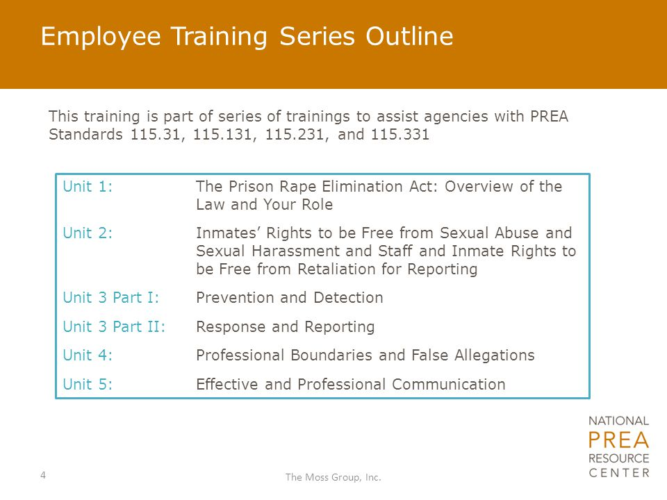 Employee Training Series Outline