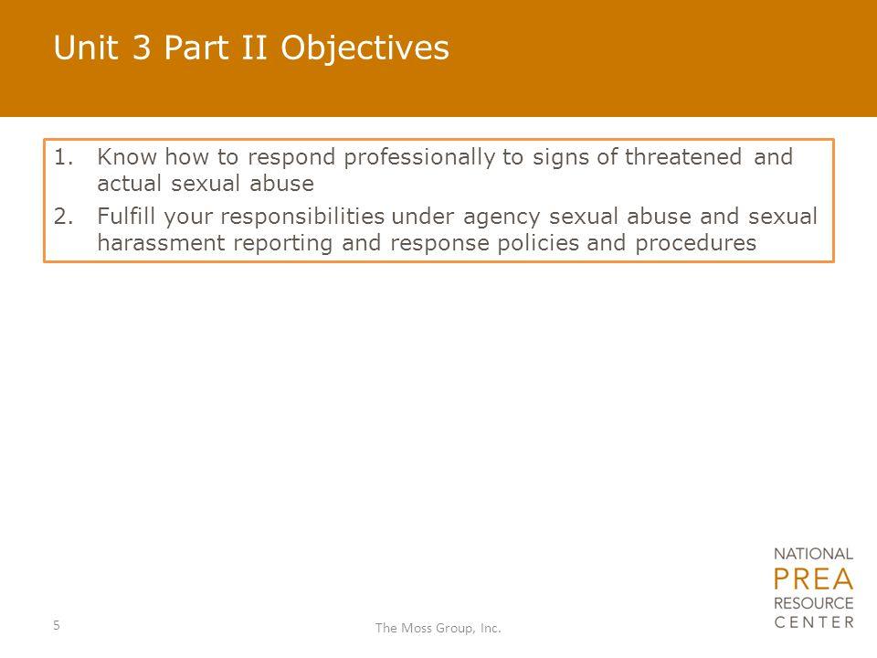 Unit 3 Part II Objectives