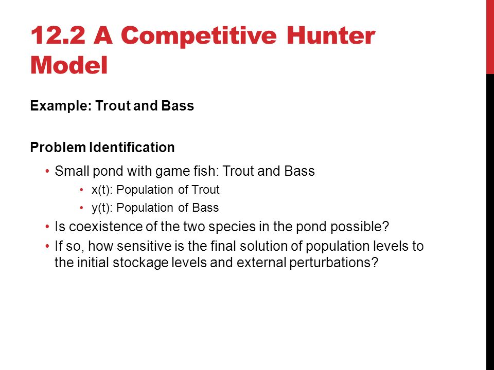 12.2 A Competitive Hunter Model