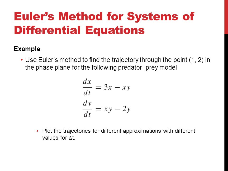 Euler's Method for Systems of Differential Equations