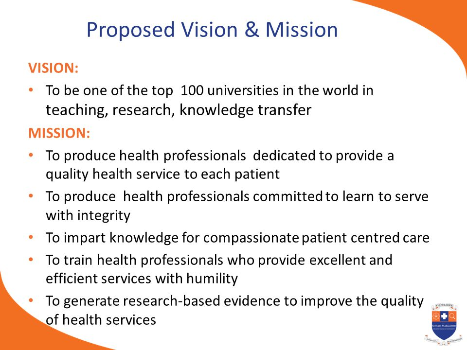 Proposed Vision & Mission