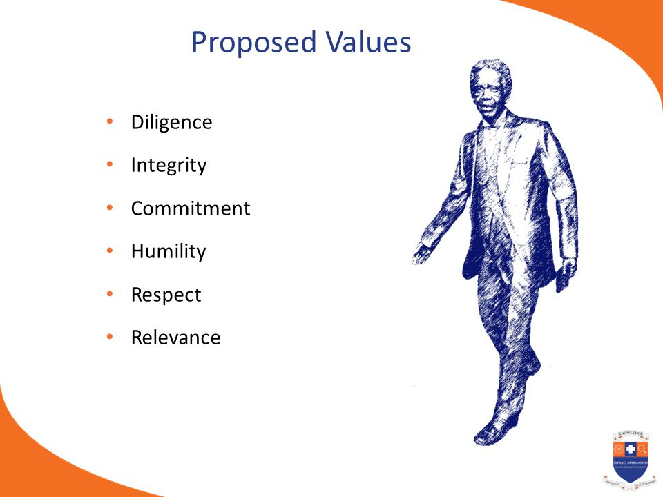 Proposed Values Diligence Integrity Commitment Humility Respect
