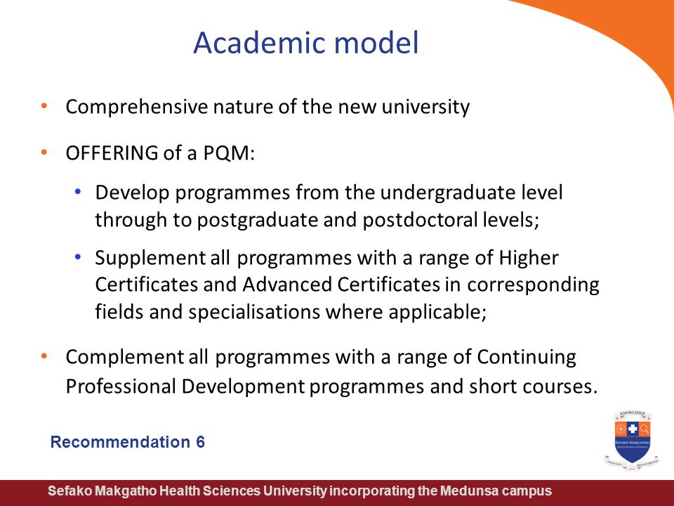 Academic model Comprehensive nature of the new university