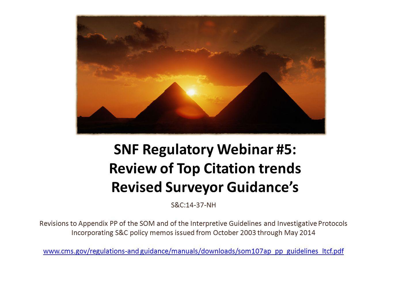 Revisions to the Interpretive Guidelines and where appropriate, Investigative Protocols for 20 F-Tags will be provided during this presentation.