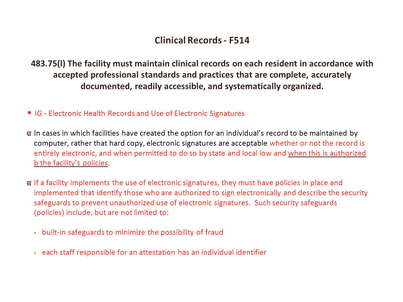 Clinical Records - F514