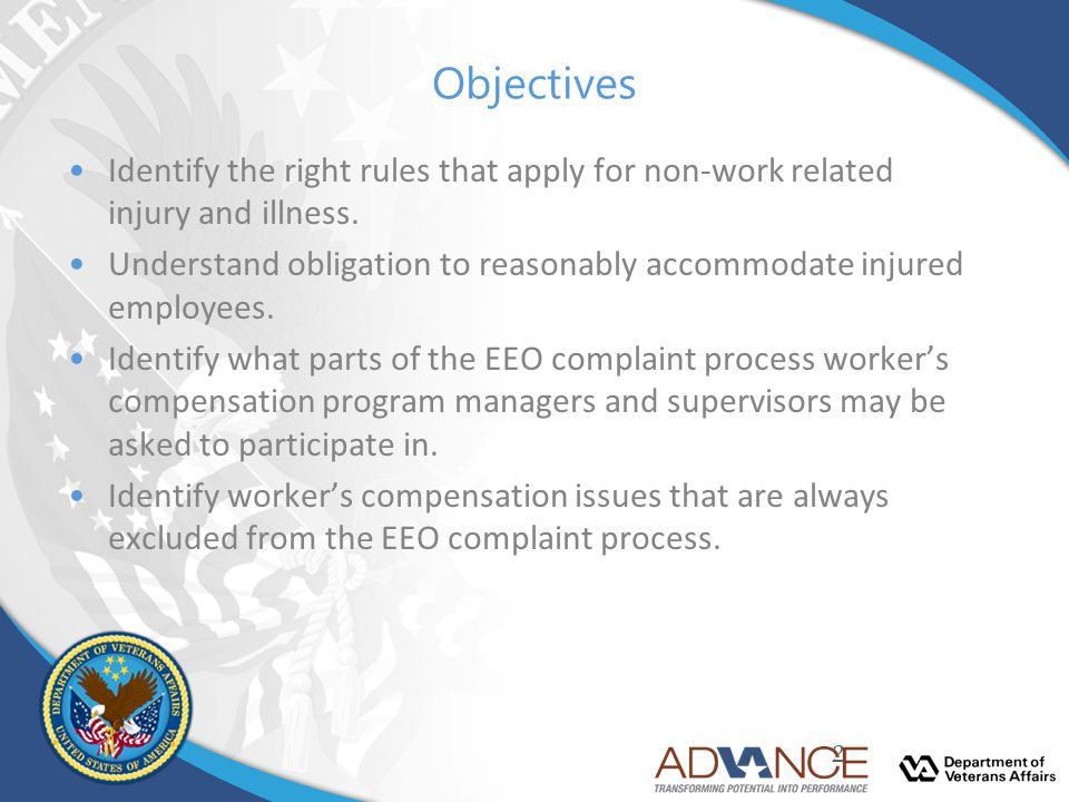 Objectives Identify the right rules that apply for non-work related injury and illness.
