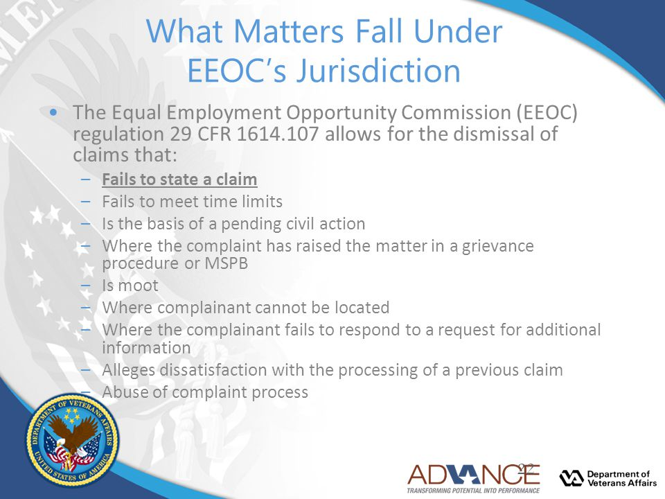 What Matters Fall Under EEOC's Jurisdiction