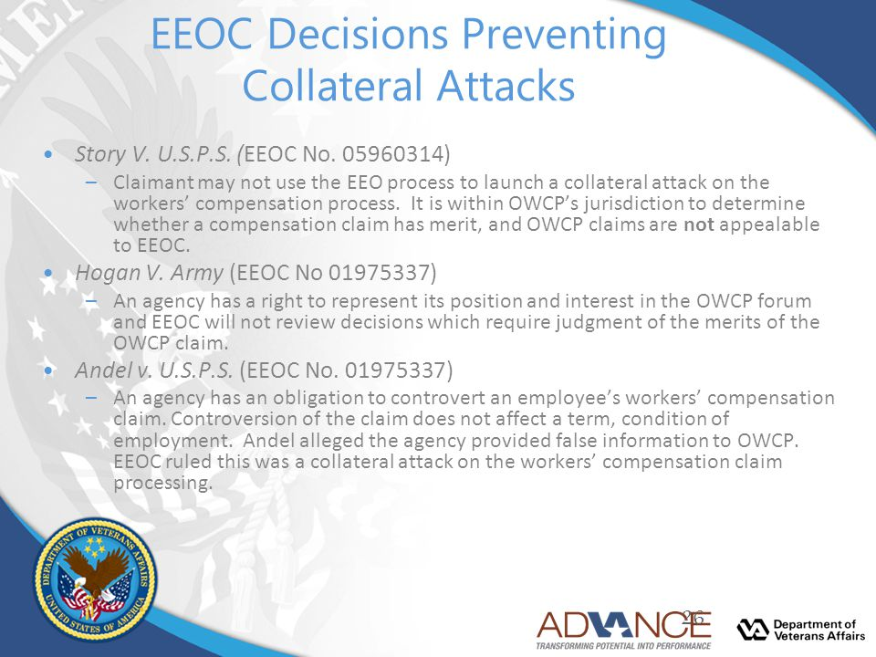 EEOC Decisions Preventing Collateral Attacks