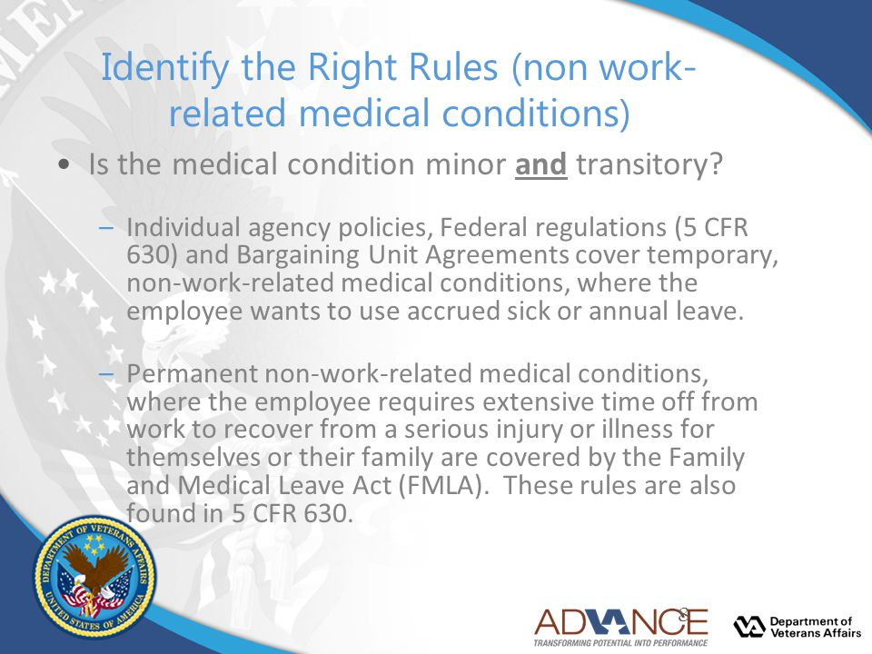 Identify the Right Rules (non work-related medical conditions)