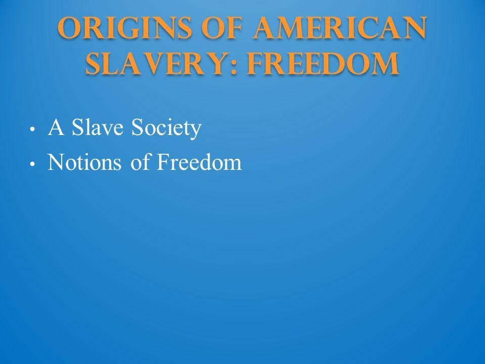 Origins of American Slavery: Freedom