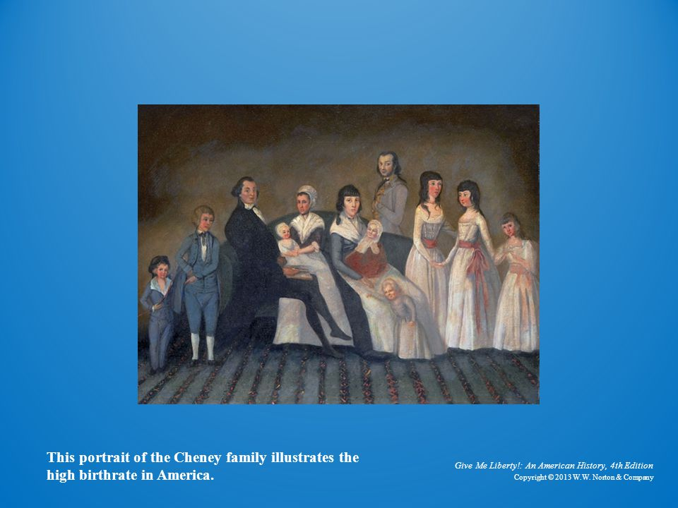 The Cheney Family This portrait of the Cheney family illustrates the