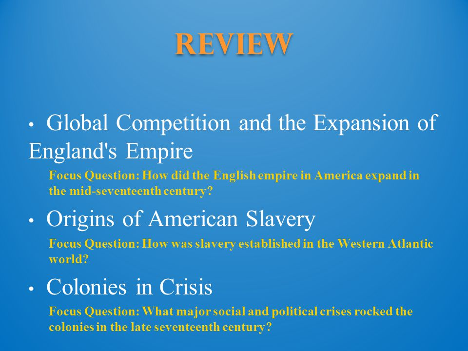 Review Global Competition and the Expansion of England s Empire