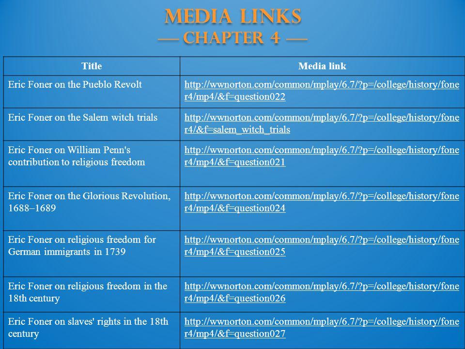MEDIA LINKS —— Chapter 4 ——