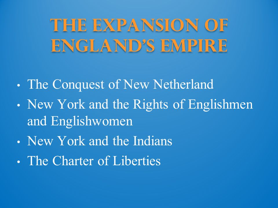 the Expansion of England s Empire
