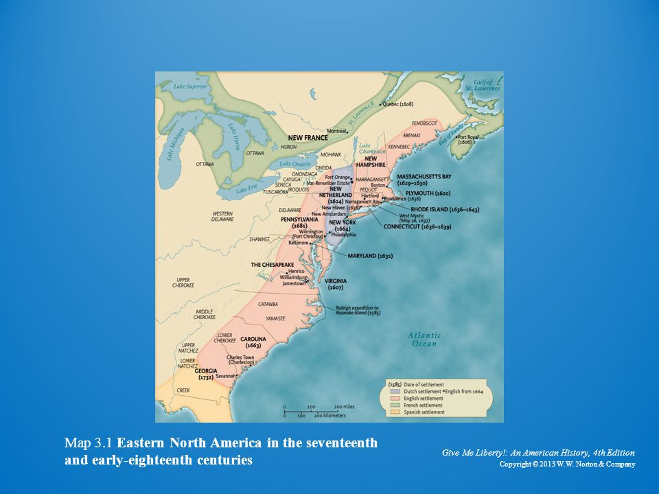 Eastern north america in the 17th and 18th centuries