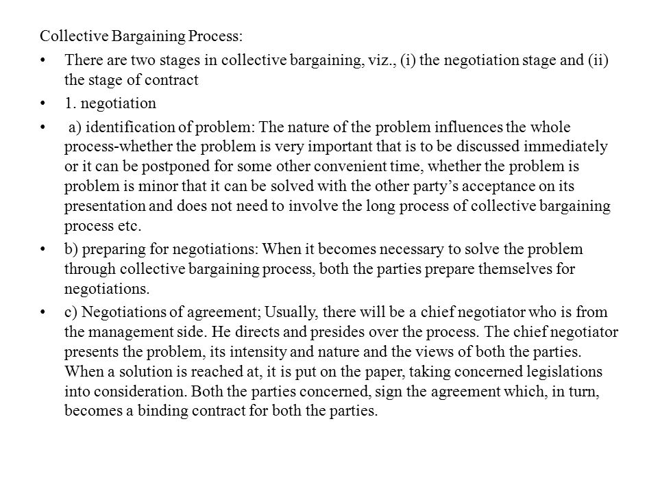 Collective Bargaining Process:
