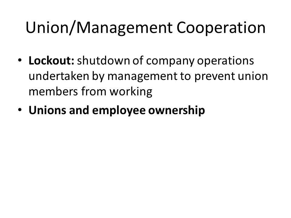 Union/Management Cooperation
