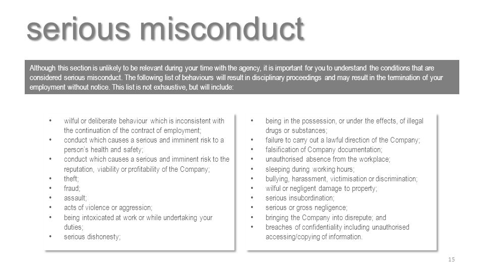 serious misconduct