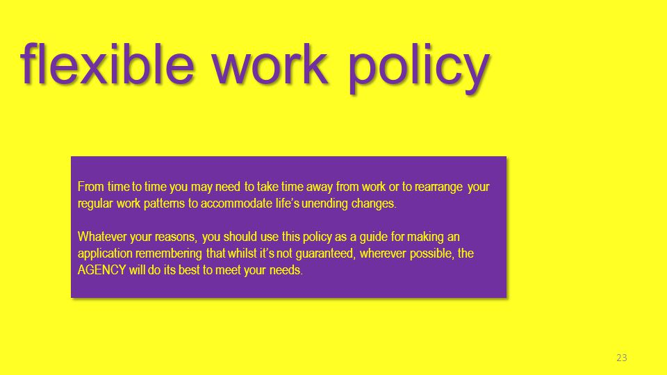 flexible work policy