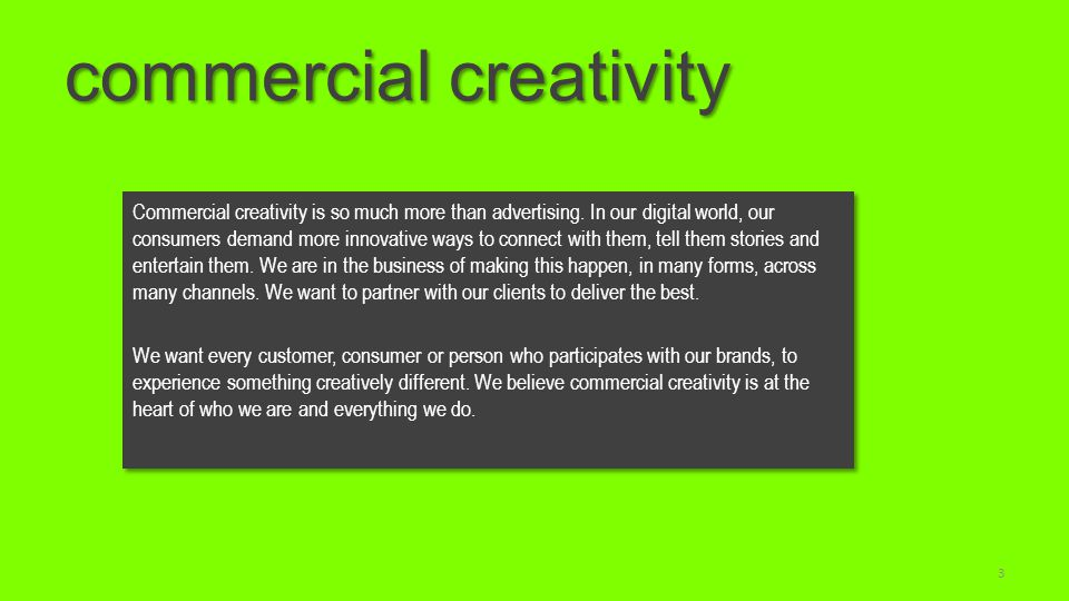 commercial creativity