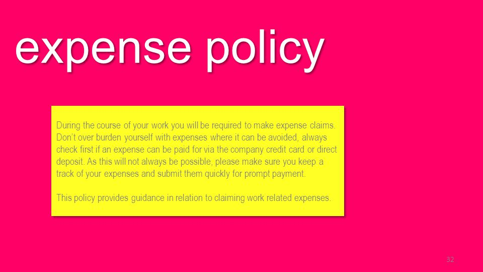 expense policy