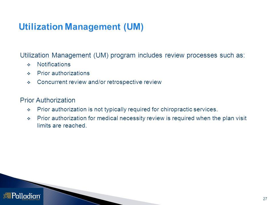 Utilization Management (UM)