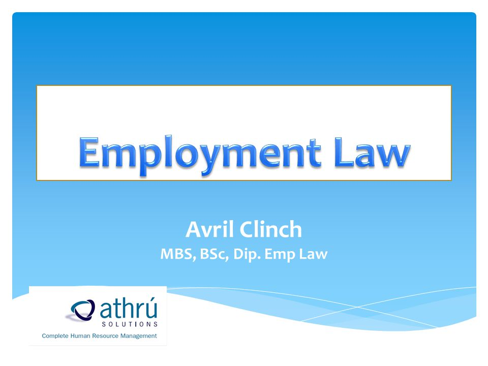 Avril Clinch MBS, BSc, Dip. Emp Law