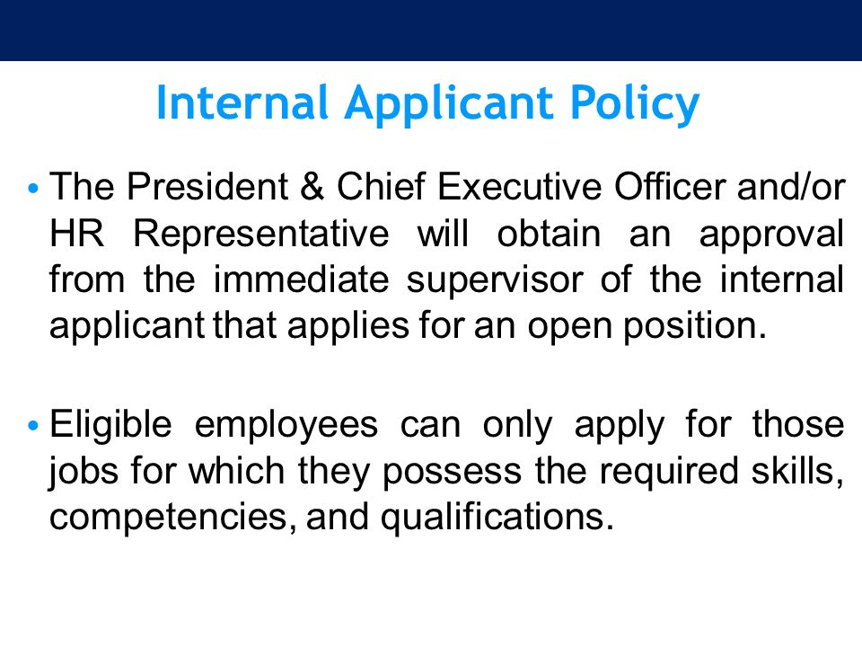 Internal Applicant Policy
