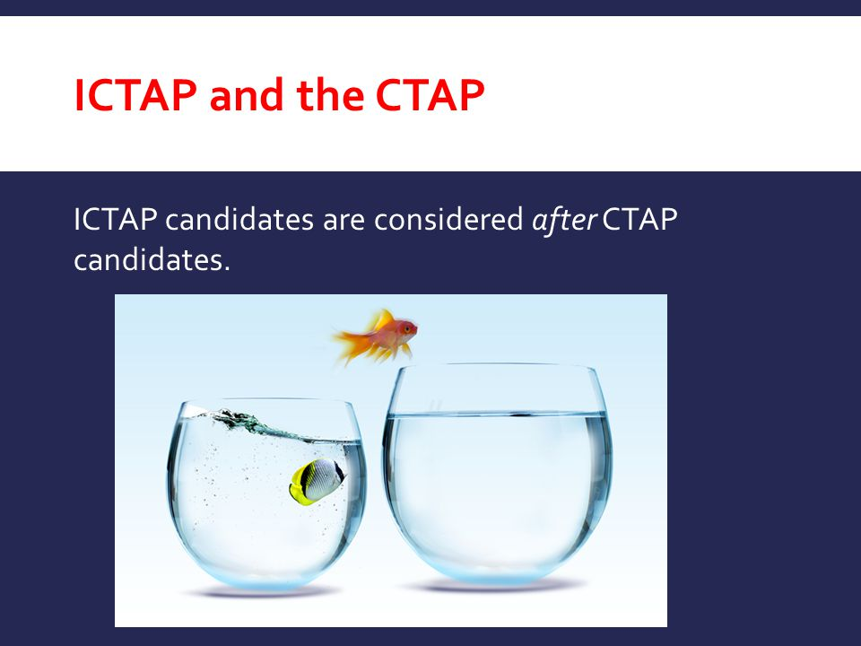 ICTAP and the CTAP ICTAP candidates are considered after CTAP candidates.