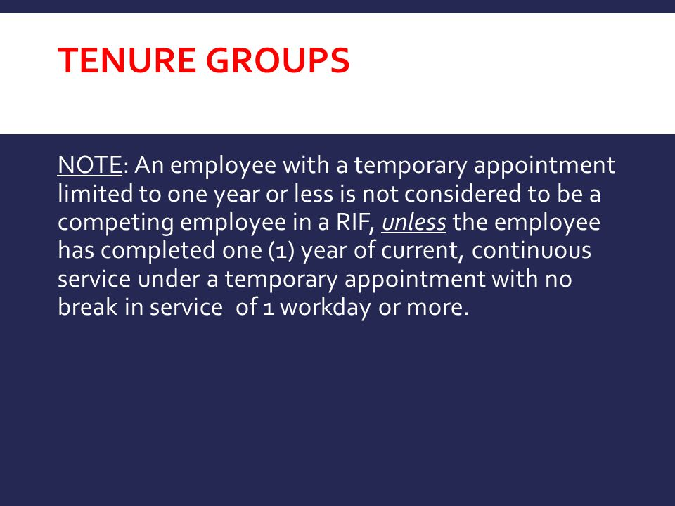 Tenure GROUPS