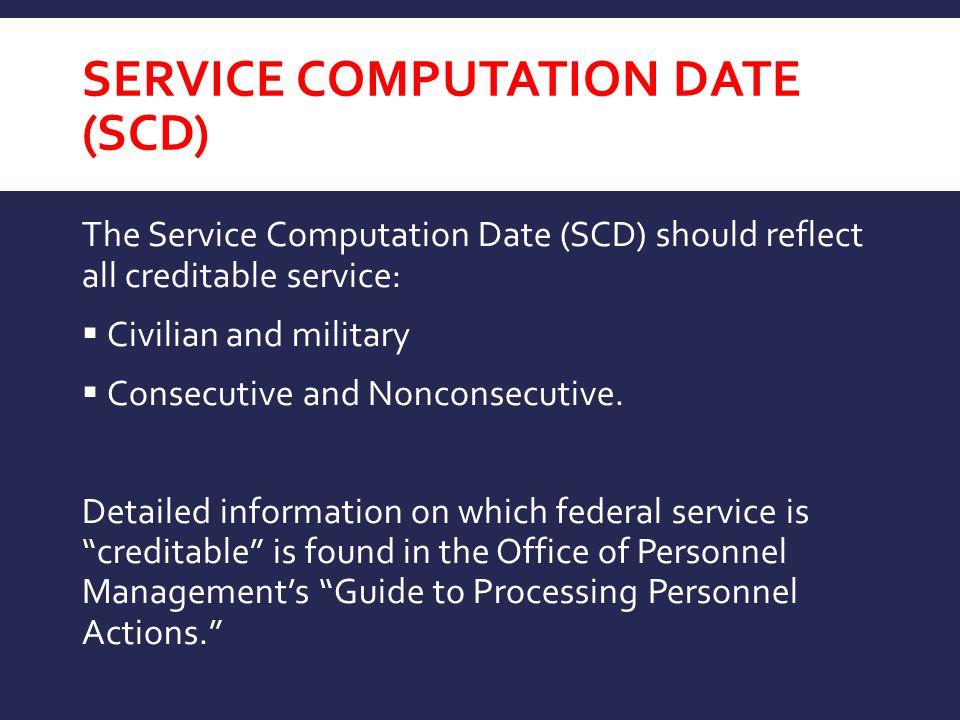 Service Computation Date (SCD)