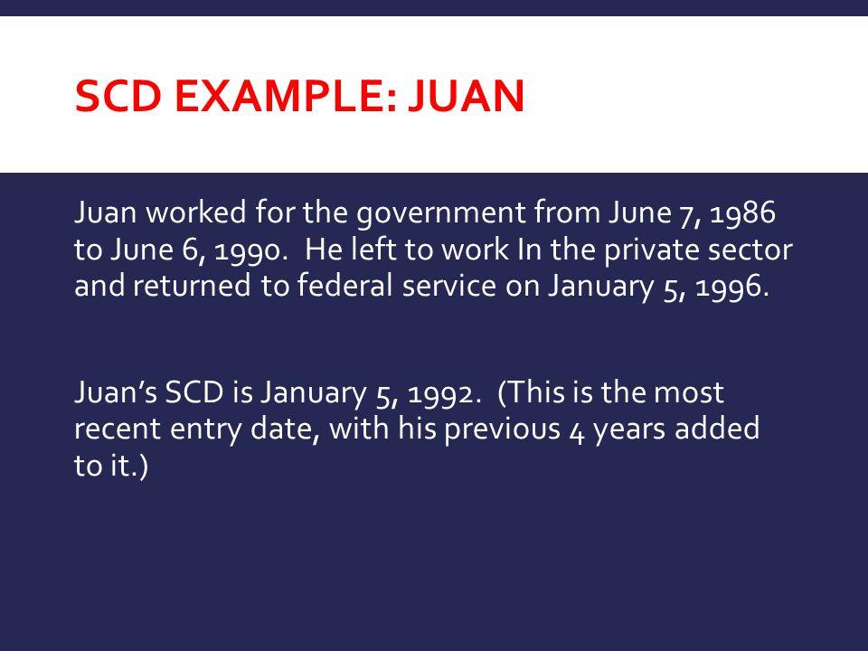 SCD Example: JUAN