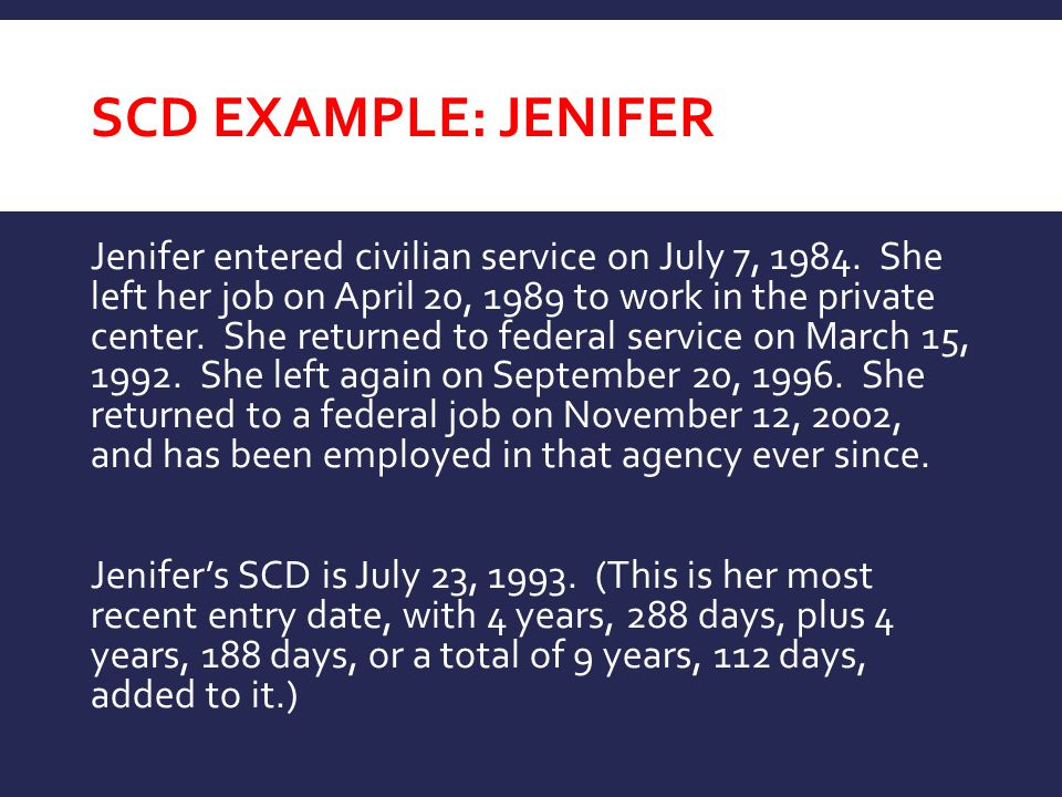SCD Example: JENIFER