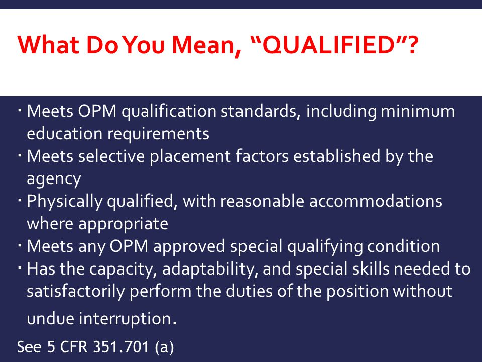 What Do You Mean, Qualified