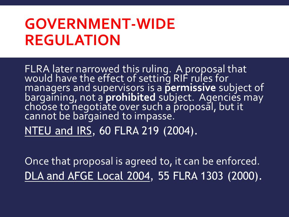 Government-Wide regulation