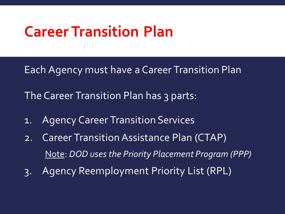 Career Transition Plan
