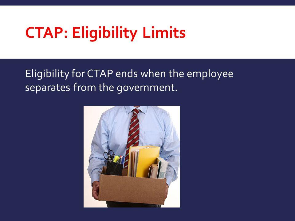 CTAP: Eligibility Limits