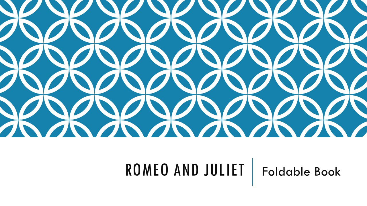 Romeo and Juliet Foldable Book