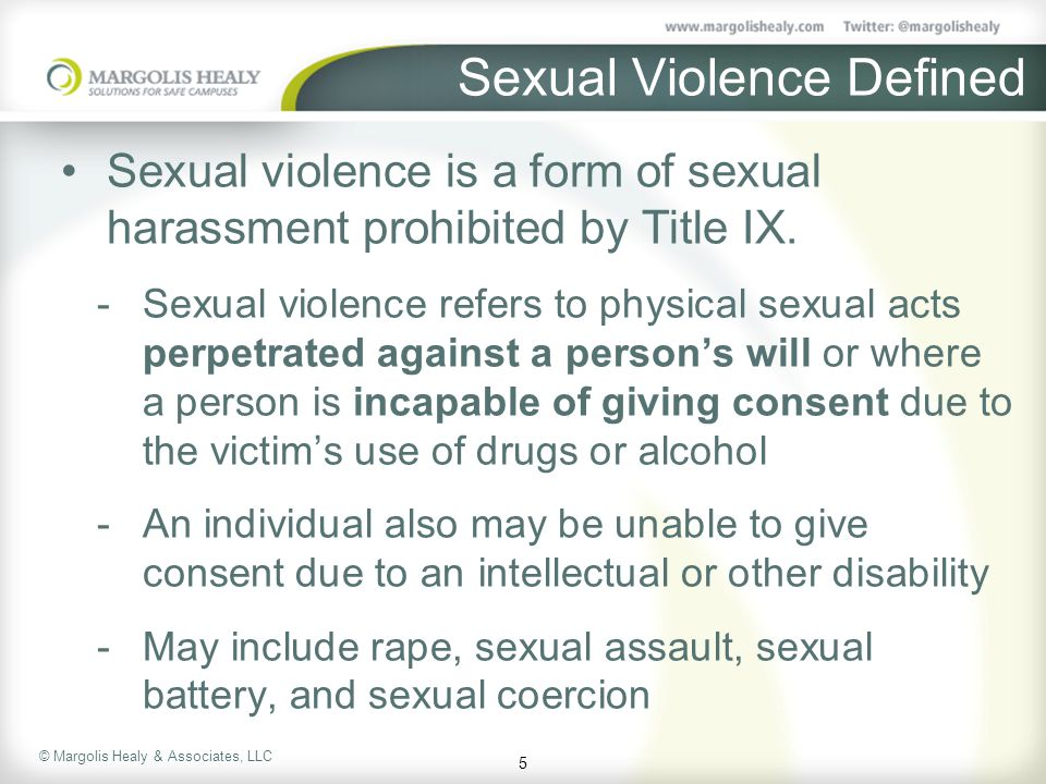 Sexual Violence Defined