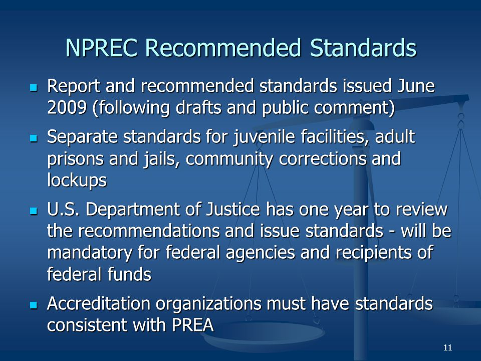 NPREC Recommended Standards