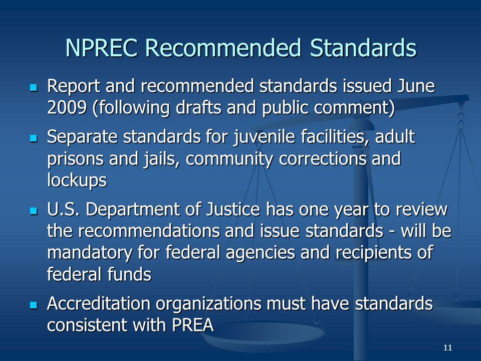 NPREC Recommended Standards