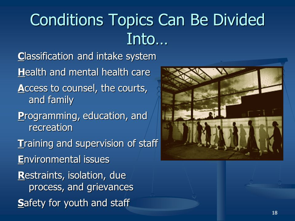 Conditions Topics Can Be Divided Into…